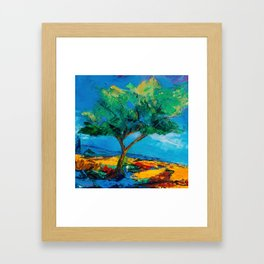 Lonely Olive Tree Framed Art Print