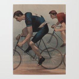 Vintage Cyclist Race Illustration (1896) Poster