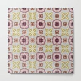 Tiles pattern 0009 Metal Print