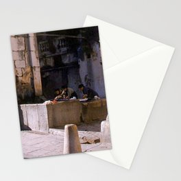 Vintage Color Photo * La Turbia * Italy * 1950's * Women washing clothes * Kodachrome * 1940's Stationery Cards