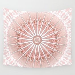 Blush Apricot Mandala Wall Tapestry