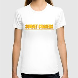 Sunset chasers with double line T-shirt