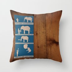 how to make your elephant fly Throw Pillow