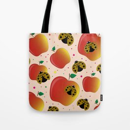 Apples and ladybugs Tote Bag