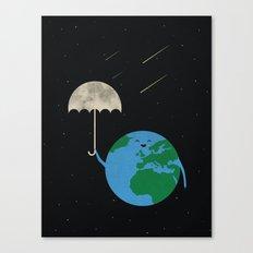 Moonbrella Canvas Print
