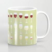 wine Mugs featuring Wine by Sara Showalter