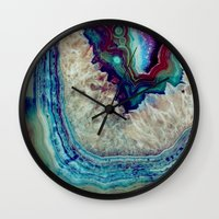 agate Wall Clocks featuring Agate by lescapricesdefilles