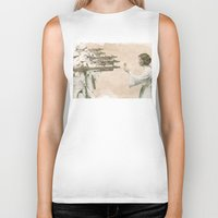 literary Biker Tanks featuring Flowers for Alderaan by Eric Fan