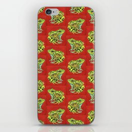 Spotted Frog Friend Pattern iPhone Skin
