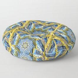 golden day kaleidoscope pattern Floor Pillow