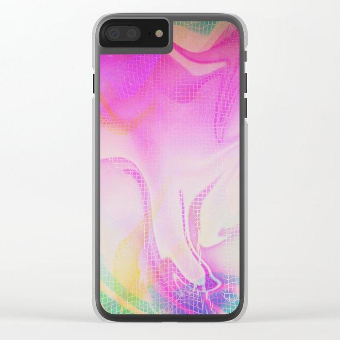 Glitch 25 Clear iPhone Case