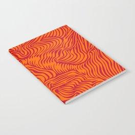 orange red flow Notebook