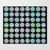 dots Canvas Prints featuring Dots  by LebensARTdesign