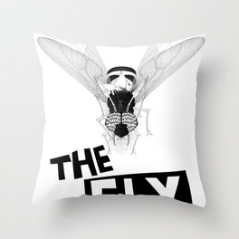 the fly remixed Throw Pillow
