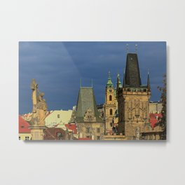 Sunny View on Prague from Charles Bridge (Karlovy Most) Metal Print
