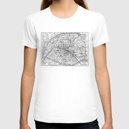 Vintage Map of Paris (1911) T-shirt