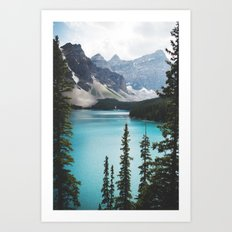 • lake moraine • Art Print