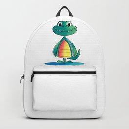Funny Crocodile Standing Backpack
