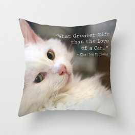 What greater gift than the Love of a Cat Throw Pillow