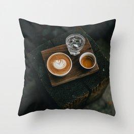 Cafe Latte Art II Throw Pillow