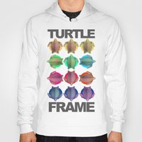frame Hoodies featuring Turtle Frame by Galvanise The Dog