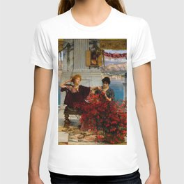 """Sir Lawrence Alma-Tadema """"Love's jewelled fetter (The betrothal ring) T-shirt"""