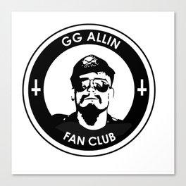 GG Allin Fan Club Canvas Print