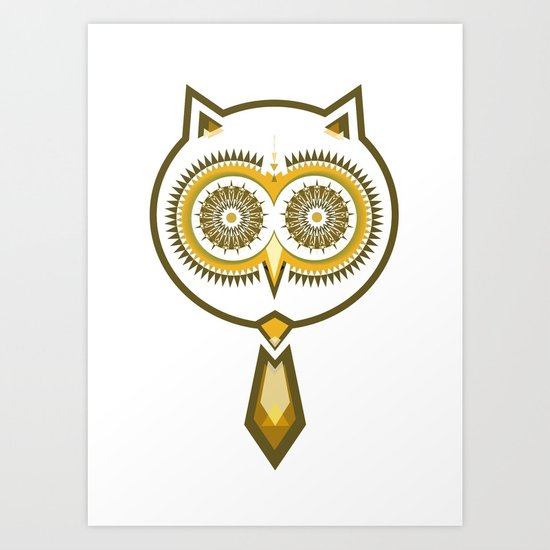 Mr. Owl Art Print