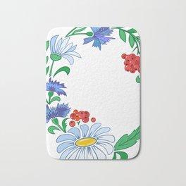 Frame from flowers Bath Mat