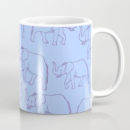 Elephants on parade  Coffee Mug