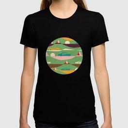 50s Retro Road Trip Green #midcenturymodern T-shirt