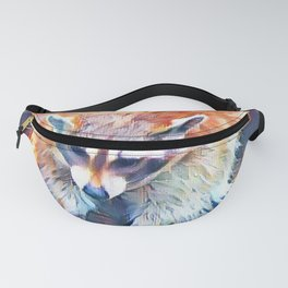 Aquarell Raccoon Fanny Pack