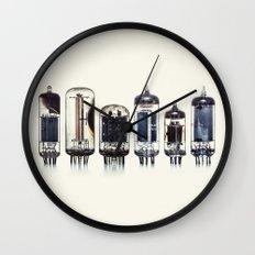 Vintage Amplifier Tubes Wall Clock
