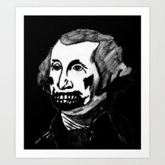 01. Zombie George Washington Art Print
