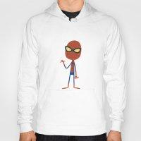 spider man Hoodies featuring Spider Man by Ariel Fajtlowicz