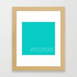 #7CDC60 [hashtag color] Framed Art Print