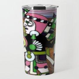 Inca Folk Art Fractal Manipulation Travel Mug
