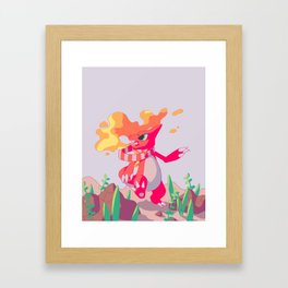 A Melody in Fire Framed Art Print