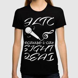 singing singer music gift song song song musician T-shirt