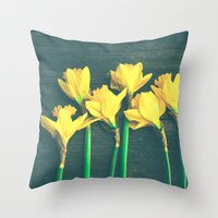 happiness Throw Pillows featuring Happiness by Olivia Joy St.Claire - Modern Nature / T