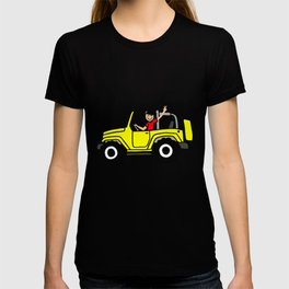 Wave yellow Side view T-shirt