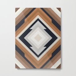 Geometric Art with Bands 04 Metal Print