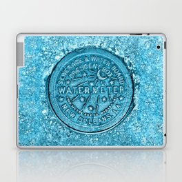 New Orleans Water Meter Louisiana Crescent City NOLA Water Board Metalwork Blue Laptop & iPad Skin