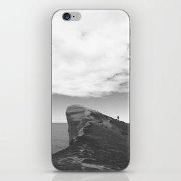 Tunnel Beach - black and white iPhone Skin