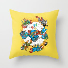 When Clown Cars Explode Throw Pillow