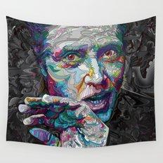 christopher walken portrait  Wall Tapestry