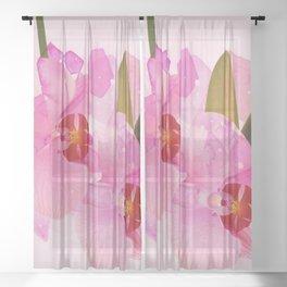 broken orchid Sheer Curtain