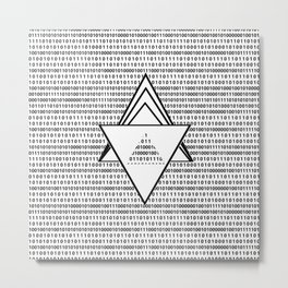 Binary code Metal Print