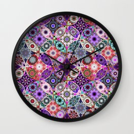 Moroccan bazaar | purple Wall Clock