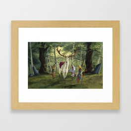 Seers Isle: The White Stag Framed Art Print